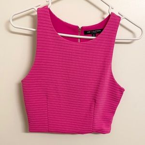 One Clothing Hot Pink Ribbed Crop Top